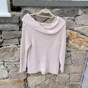 American Eagle off-the-shoulder cowl neck sweater